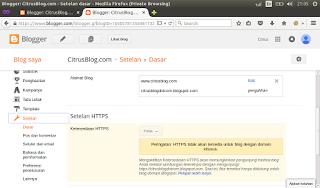 cara setting https di blogspot