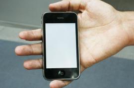 iphone blank screen putih